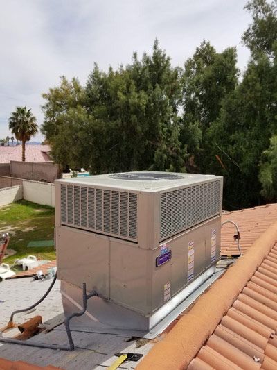 AC Package unit on the roof in Las Vegas