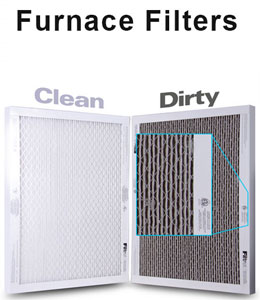 Air filter - Clean and dirty filter comparison