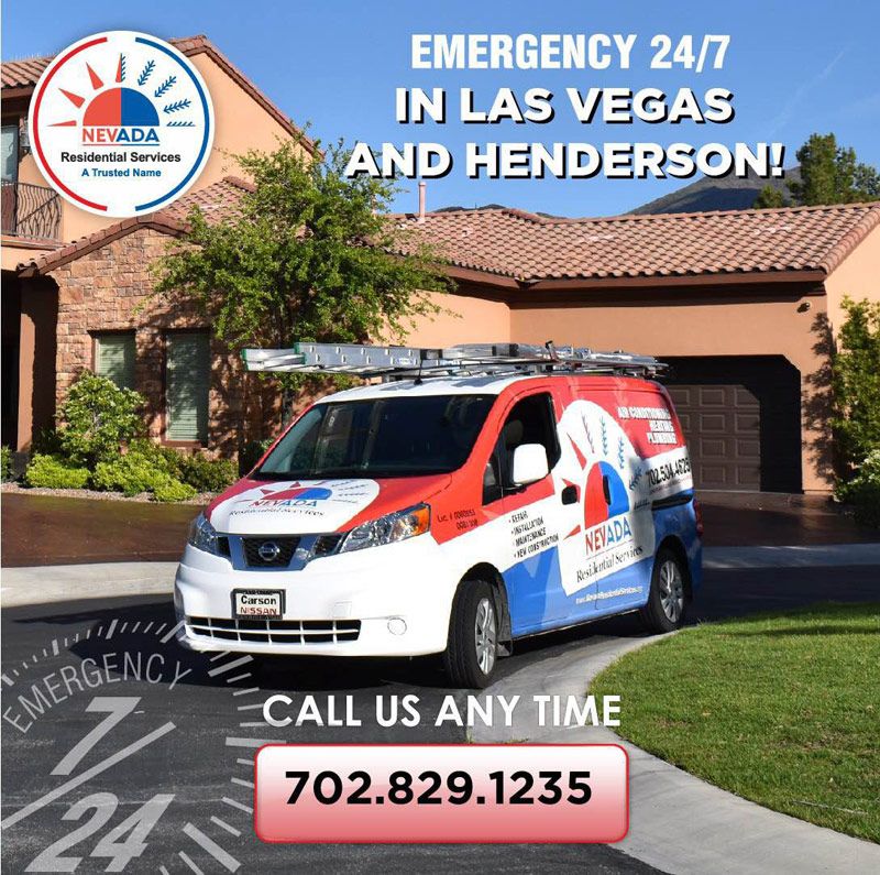 Emegrency 24/7 HVAC Services in Las Vegas or Henderson