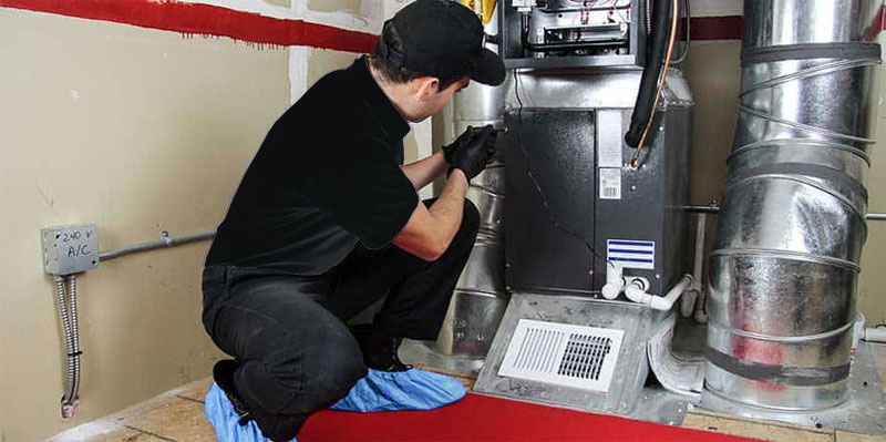 New heating system installation (Furnace installation)