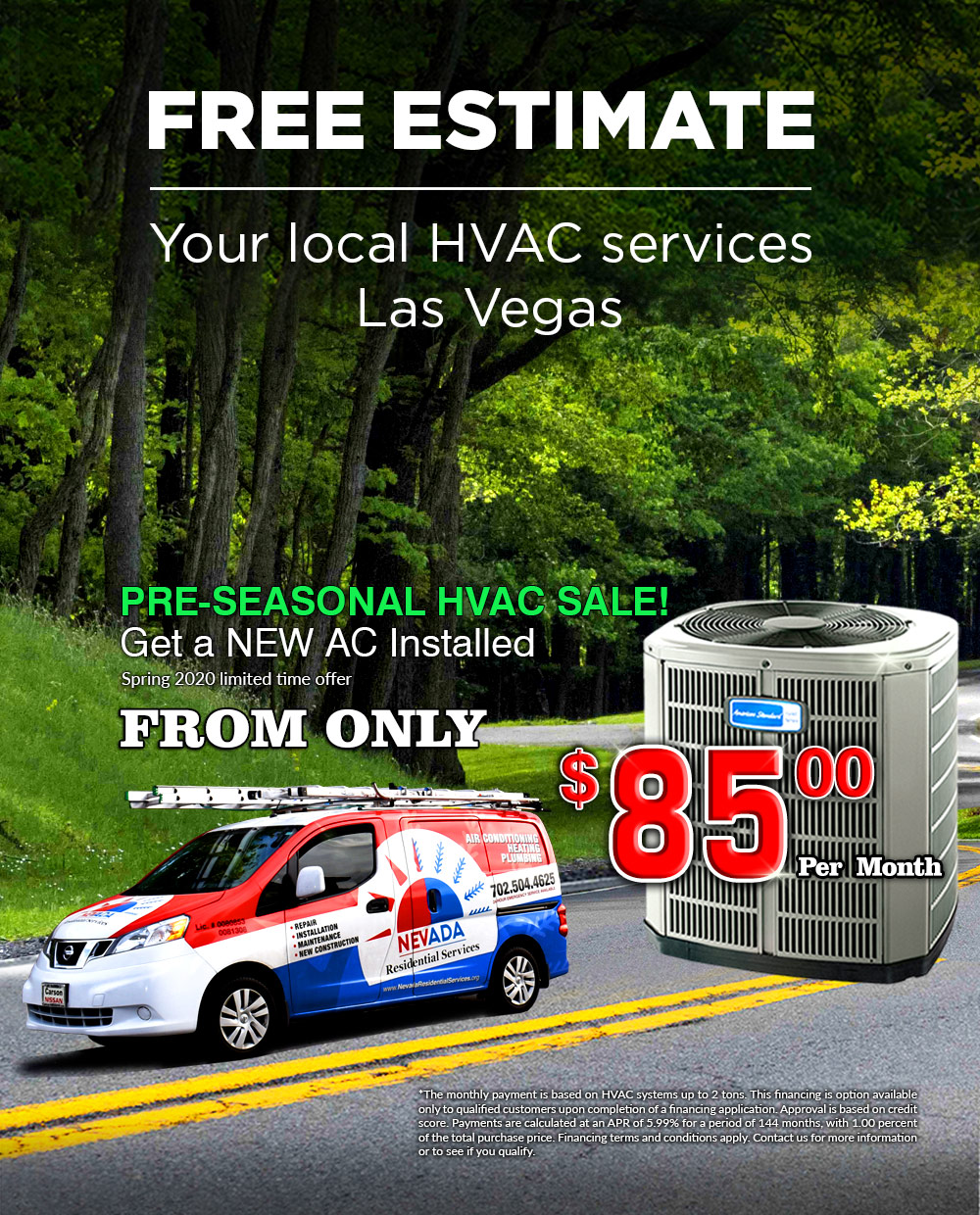 Get new AC Installed  Las Vegas, NV - Spring 2020 offer