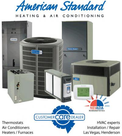 HVAC repair and maintenance - heaters, furnaces, air conditioners (American Standard)