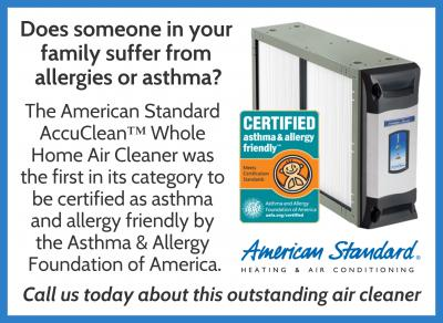 Want to improve Indoor Air Quality? - Try Accuclean Whole-Home Air Filtration System!