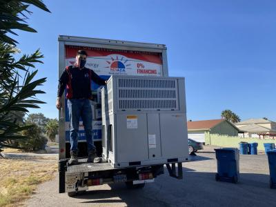 Rooftop Air Conditioner Replacement in Las Vegas. Nevada Residential Services Air Conditioning & Heating Company.