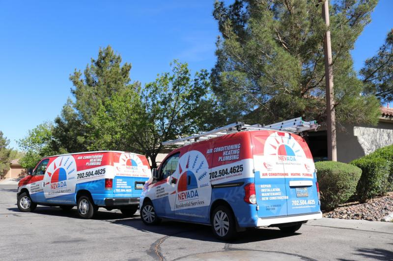 Las vegas HVAC experts - our vans